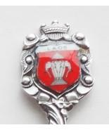 Collector Souvenir Spoon Laos Flag 1952 to 1975 Porcelain Enamel Emblem - $24.99