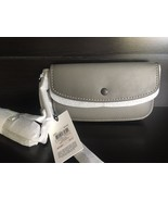 NWT Coach CLUTCH in glovetanned leather  (1941 Collection) with chain Grey - $225.00