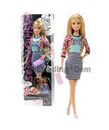 """2014 Fashionistas 12"""" Doll BARBIE CLN61 in Sporty Stripes Dress w Floral... - $24.99"""