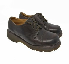 Doc Martens Women's Sz 8 Brown Lace Up Oxford Comfort Walking Casual Flats - $44.99