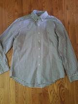 Ralph Lauren Mens Large Button Up Plaid Long Sleeve Polo Shirt - $28.71