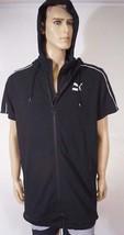 Puma TL31680 Men's Black 2 in 1 Xtreme Short Sleeve Jacket Hoody Hoodie M - $47.99