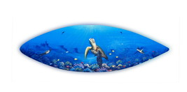 Painted wooden surfboard wall art sea turtles original handcrafted painted - £106.78 GBP
