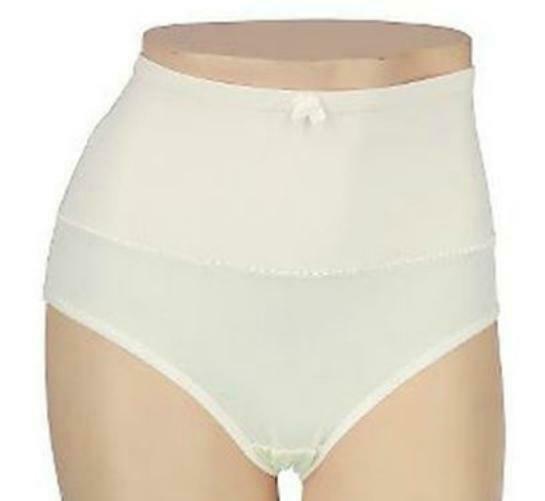New Carol Wior Microfiber Belly Band Shapewear Brief Panty - Qty 6 Ivory Size L