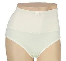 New Carol Wior Microfiber Belly Band Shapewear Brief Panty - Qty 6 Ivory Size L image 1