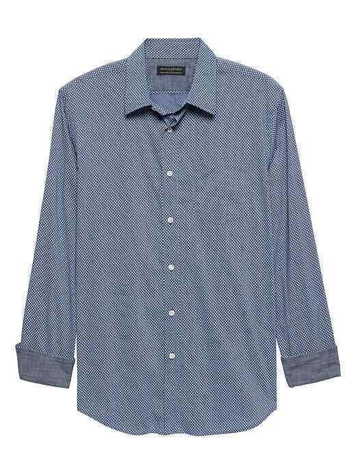 Banana Republic Men/'s Camden Standard-Fit 100/% Cotton Oxford Shirt Pink Sz M NWT