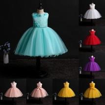 Princess Flower Girl Dress Lace Formal Birthday Party Tutu Children Clot... - $28.99