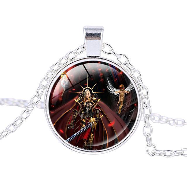 Warhammer 40K Bronze Alloy & Tough Glass Unisex Necklace / Pendant - Strategy