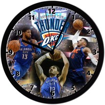 """Oklahoma City Thunder Homemade 8"""" NBA Wall Clock w/ Battery Included - $23.97"""