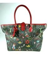 Dooney & Bourke Black & Red Macy's Day Parade Large Tote Bag Shoulder Ba... - $128.14