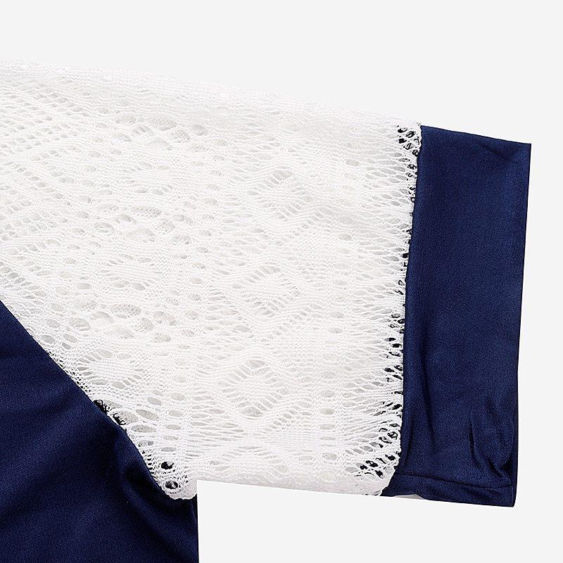 ZANZEA Women Summer Lace Blouse Blusas 2018 New Sexy O Neck Short Sleeve Crochet