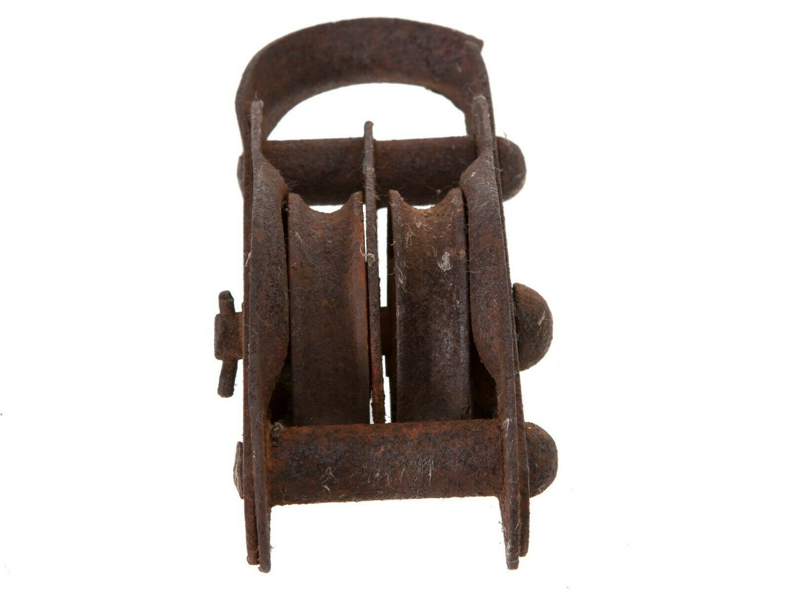 Primary image for FREE SHIP: Vintage Rusted Double Pulley