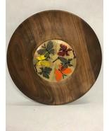 Vintage Mid century Modern walnut cheese  tray Ernest Sohn Butterflies m... - $49.49