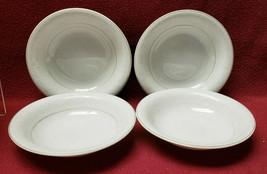 Rosenthal China White Velvet Pattern (Gold) Set Of Four (4) Fruit/Dessert Bowls - $29.95