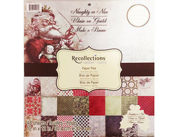 Recollections Naughty or Nice Cardstock Paper Pad 48 Sheets image 1