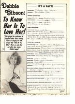 Debbie Gibson teen magazine pinup clipping to know her is to love here super rar