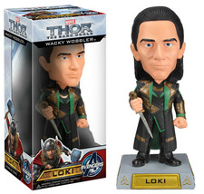 An item in the Collectibles category: Marvel Thor The Dark World Loki Wacky Wobbler Bobblehead by FUNKO NIB