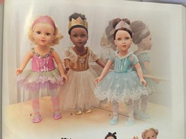 "Simplicity Sewing Pattern 1243 18"" Doll Ballerine Dance Outfit New Slipp... - $12.67"