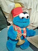 Disney Trumpet Playing Cookie Monster Plush Toy works Sings plays music ... - $0.98