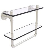 Allied Precision Industries 16 Inch Double Shelf with Towel Bar Satin Ni... - $241.99