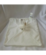 Animal Adventure White Bunny Lovey Rabbit Plush Blanket NWT Tan Stitch B... - $39.54