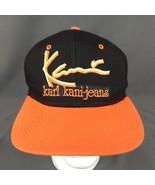 Karl Kani Jeans SnapBack Hat Black Orange Cap Embroidered - $33.81