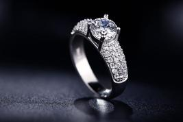 AAA Zirconia Jewelry Ring Silver Plated Wedding Engagement rings For Women - $14.39