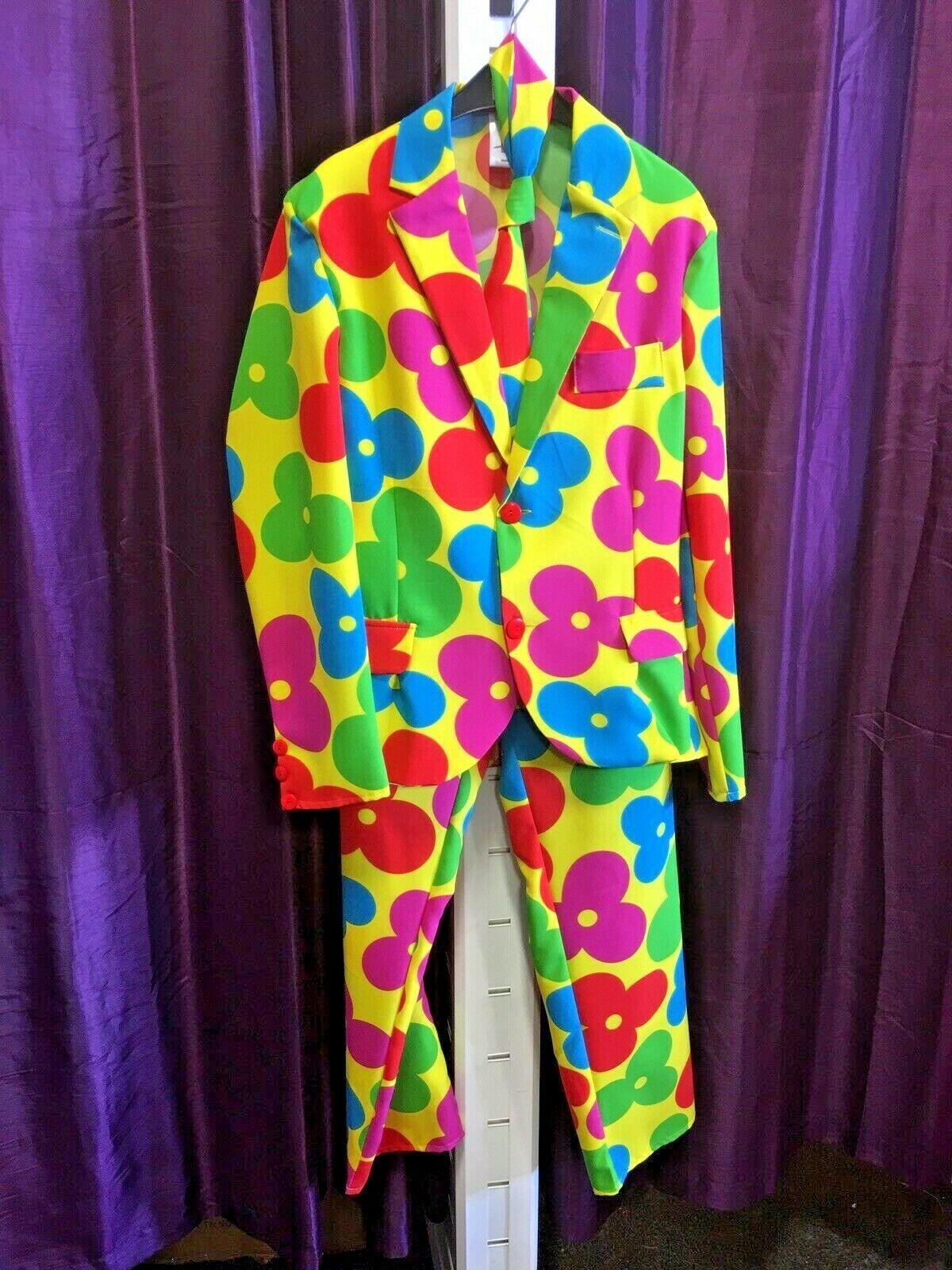 """Clown / Flower Power SUIT , S 38/40"""""""