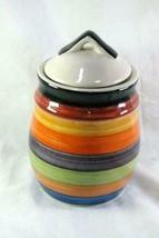 Phillipe Richard Rondo Sugar Canister Multi Color Concentric Rings Stone... - $16.62