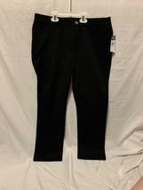 New Chaps Women Black Cotton Blend Casual Pants Sz 12P - $20.00