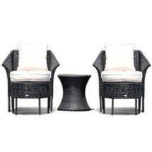 Hulaloveshop 5 PCS Furniture Sets Leisure Patio Rattan Dining Sets - $541.48