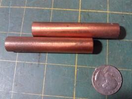 "7XX57 A Pair Of Brass Finials, Female Threaded (1/4NF +/-), 2-3/4"" Long, Gc - $9.67"
