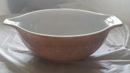 Pyrex Cinderella USA Woodland Brown 4 Liter Mixing Bowl 1970s 70s 80s No. 444 - $27.69
