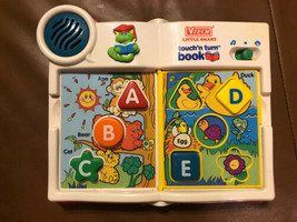 Rare Vintage Vtech Little Smart Touch'n Turn Book ABC Book Worm Animals - $29.69