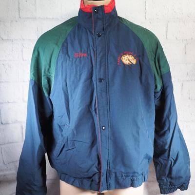 Primary image for Vintage Pappy's Pizza & Subs TAGLIA L 607ms Colore a Blocchi Cappotto Giacca ""