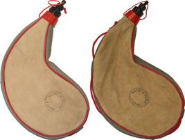 Traditional Goatskin Wine Bota Bag, Tan Spanish Leather Wineskin Beige C... - $13.99+