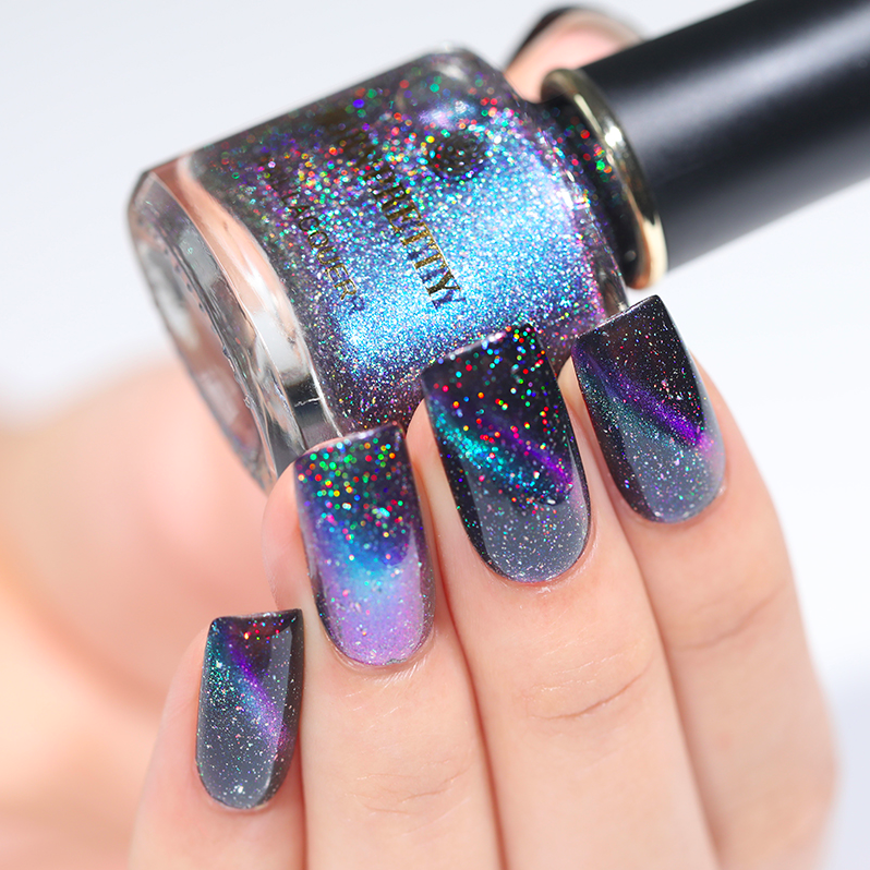HOLOGRAPHIC 3D MAGNETIC SERIES Glitter Varnish Magnet Nail Art Lacquer