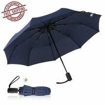 Rain Umbrella Compact Windproof Travel Folding w/ Teflon Coating Auto Op... - $26.23+