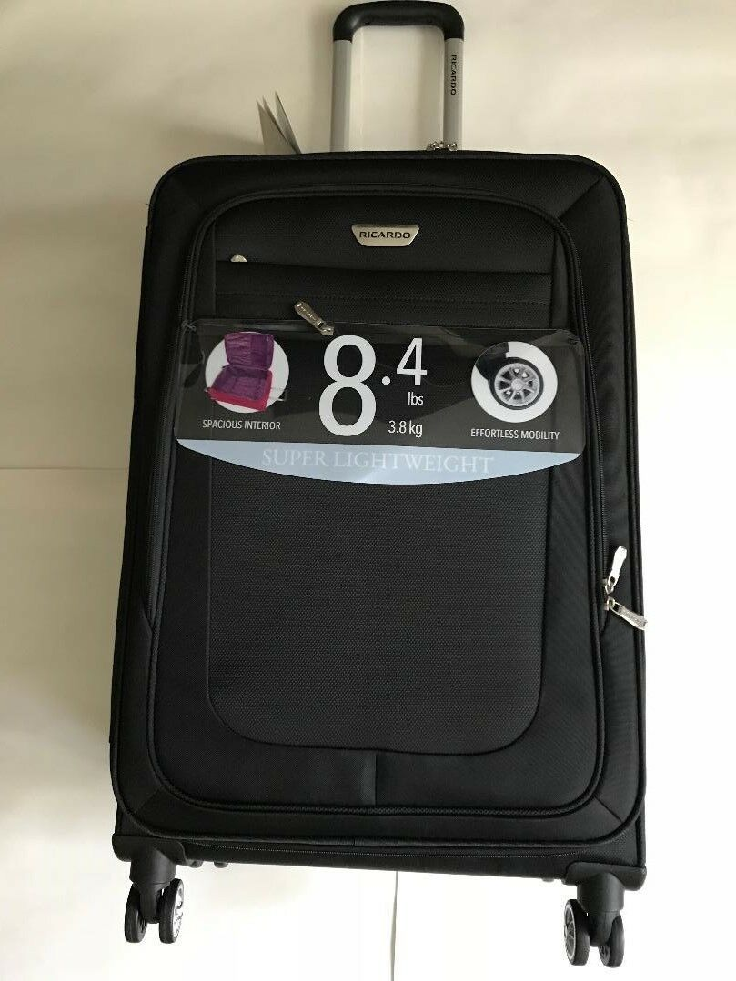 Primary image for NEW Ricardo Oceanside Expandable 26 Spinn Black Suitcase Luggage