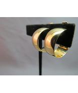 Monet Comfort Clip On Hoop Earrings Gold Plated... - $15.83