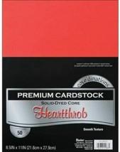 "Darice Core'dinations Premium Cardstock 8.5""X11"" 50/Pkg-Heartthrob Red"
