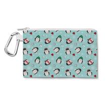 Cute Penguins Canvas Zip Pouch - $15.99+