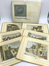 Pimpernel Vintage 6 Celluware Placemat Set Old English Inns Cork Back READ - $19.99