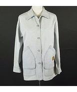 RALPH LAUREN Oversized M Fits L XL Blue Striped Barn Jacket - $24.99
