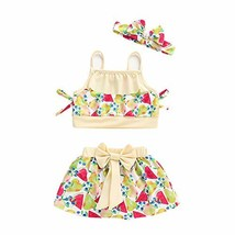 PROBABY Baby Swimsuit Girl Halter Shoulder Swimwear Polka Dot Bikini Bat... - $14.56