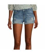 Arizona Women's Juniors Denim Shortie Shorts Size 3 Medium Skyrocket Color - £17.39 GBP