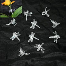(25 Pack) Clear Plastic Dragonfly Clips by Sophie's Orchids - $18.25