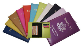 Passport Cover Holders Genuine Leather ID Wallet Case Travel Organizer N... - $10.89