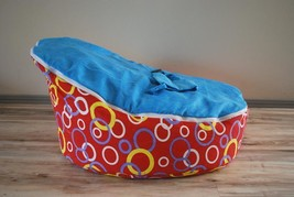 Blue Coffee Baby Bean Bag Cover Soft Snuggle Bed with Harness Strap No Fillings