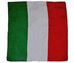 "22""x22"" Italy Italian Flag Premium Quality Fade Resistant Cotton Bandanna - $18.00"